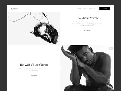 Archive Layout black and white editorial layout magazine suited magazine content publishing cms archive homepage