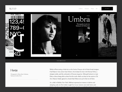 Gallery Layout image gallery slider gallery black and white editorial layout magazine suited magazine content publishing cms archive homepage