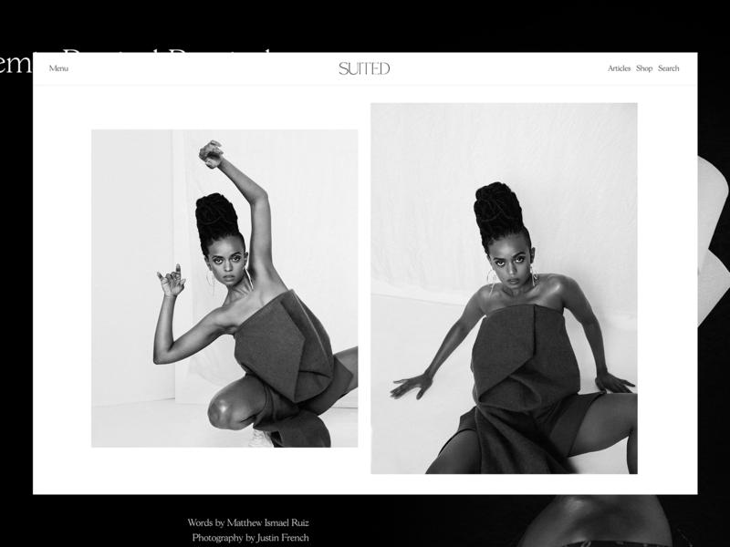 Suited Magazine Issue No.7 – Kelela black and white wordpress publishing content editorial layout