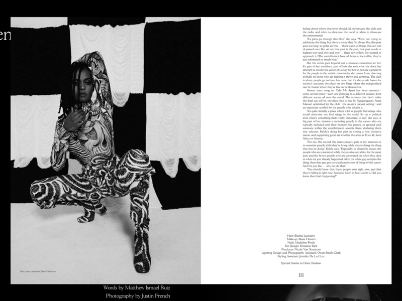 Suited Magazine Issue No.7 – Kelela black and white content publishing print editorial layout