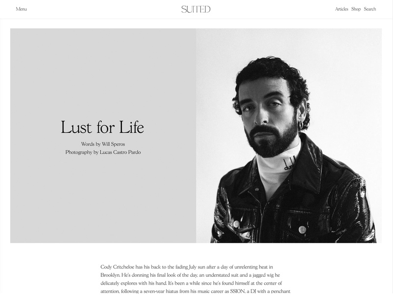 Suited Magazine Issue No.7 – Lust for Life magazine content suited magazine layout design publishing editorial layout content design