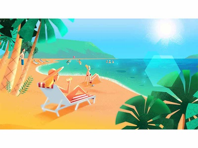 Airline Commercial characterdesign character plane airline artwork fish sea summer sun illustration