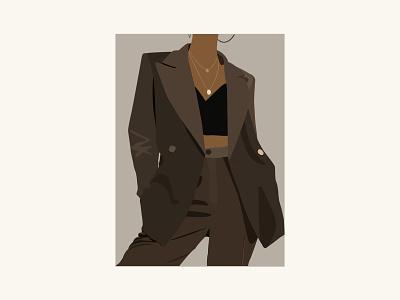 Fashion Illustration vector flat minimal outfit girl woman female illustration fashion illustration fashion