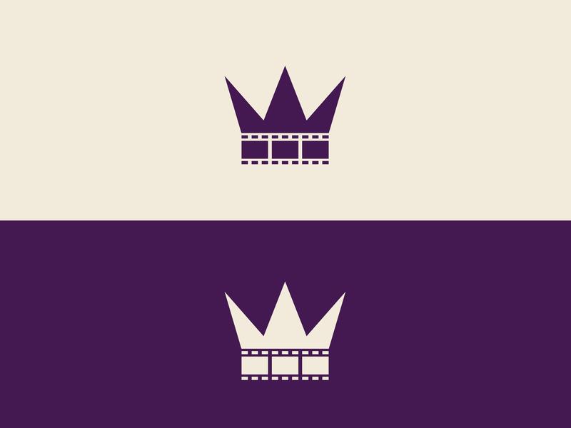 """Imperijal"" Cinema Logo purple crown cinema movie symbol minimal vector flat design branding logo"