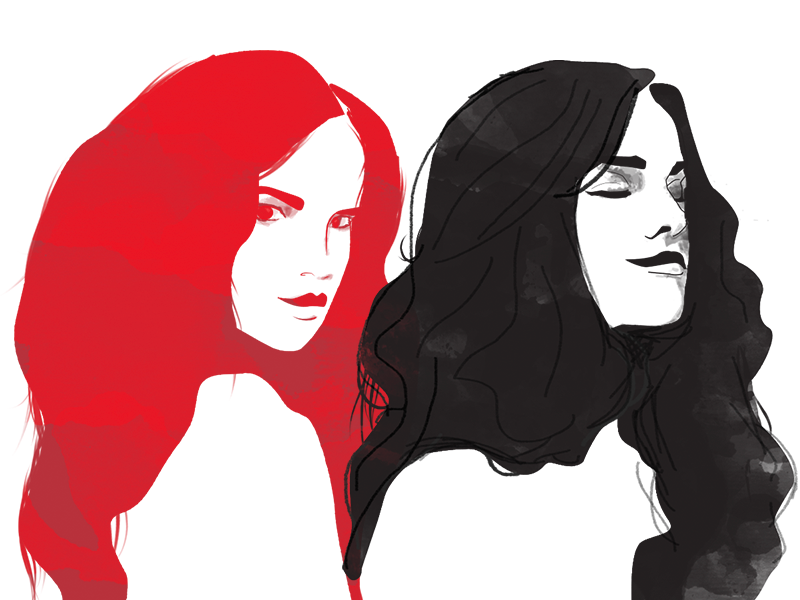 Haircare Illustrations illustration beauty client hair