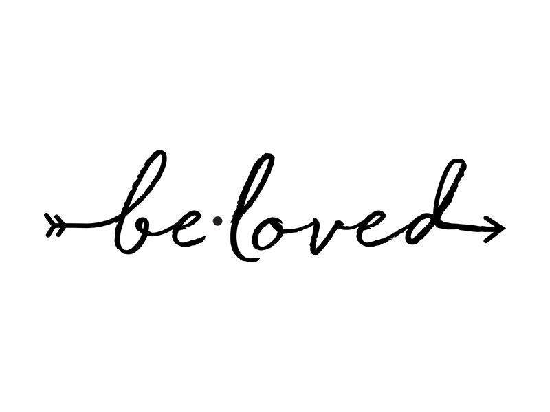 be•loved // loyalty program logo typography logo