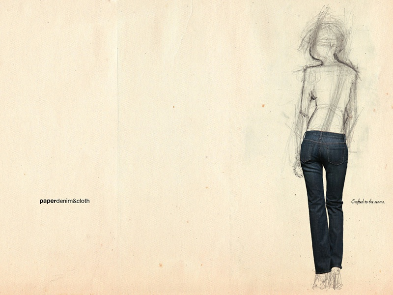 Paper Denim & Cloth Print concept design illustration art direction print