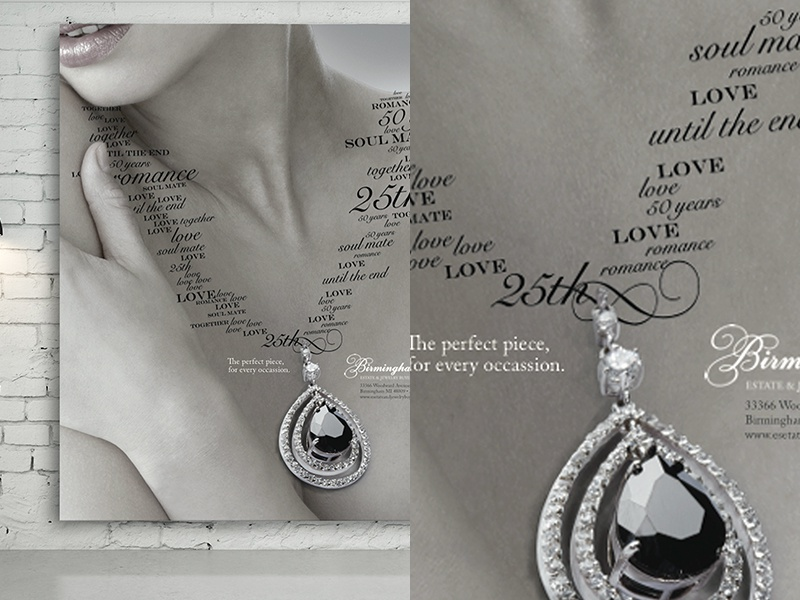 Birmingham Jewelers Poster art direction typography print