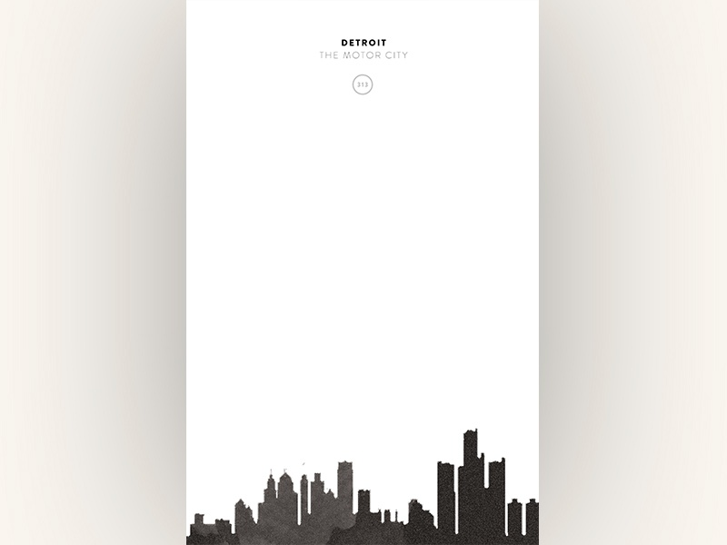 Cityscapes // Detroit design copywriting art direction poster print