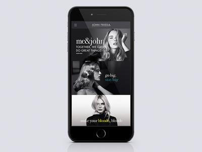 John Frieda // Website Concept (mobile)