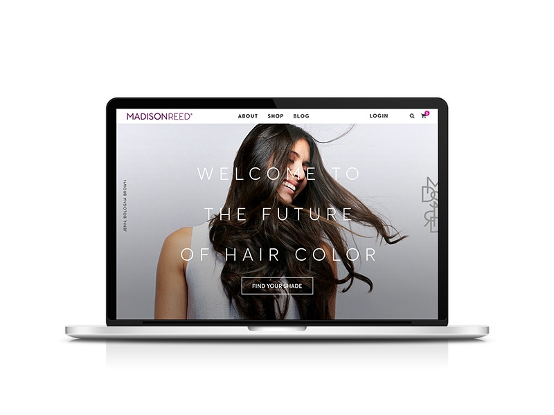 Madison Reed // Homepage website art direction hair design digital uxui