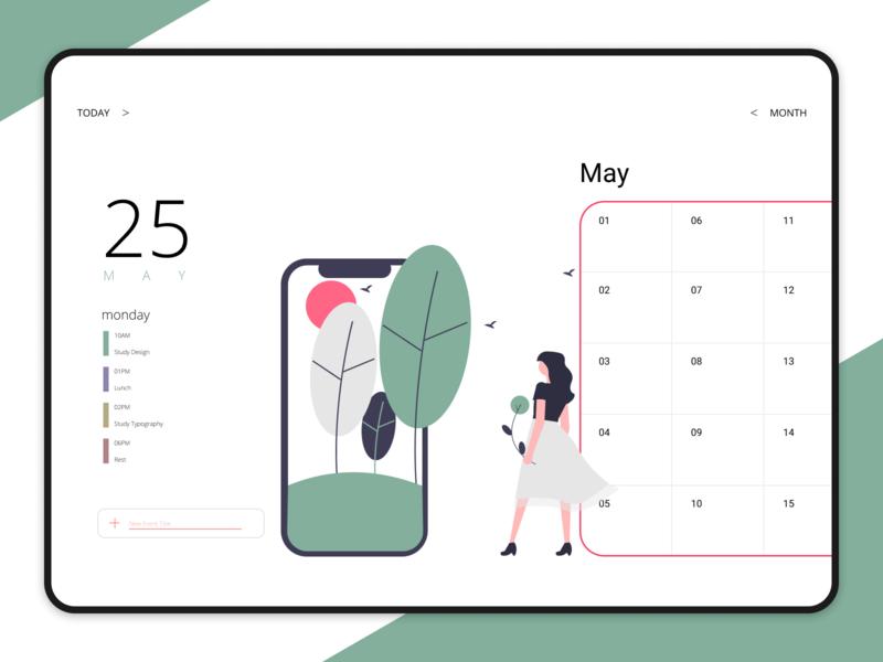 #DailyUI38 - Calendar daily ui typography ui ux illustration app design userinterface dailyui uidesign interface