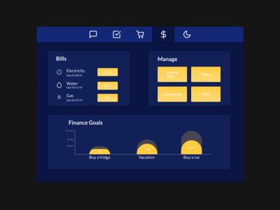 Home Monitoring Dashboard - DailyUI 021