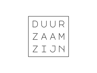 DUURZAAMZIJN font creative art graphicdesign branding typography modern type design logo