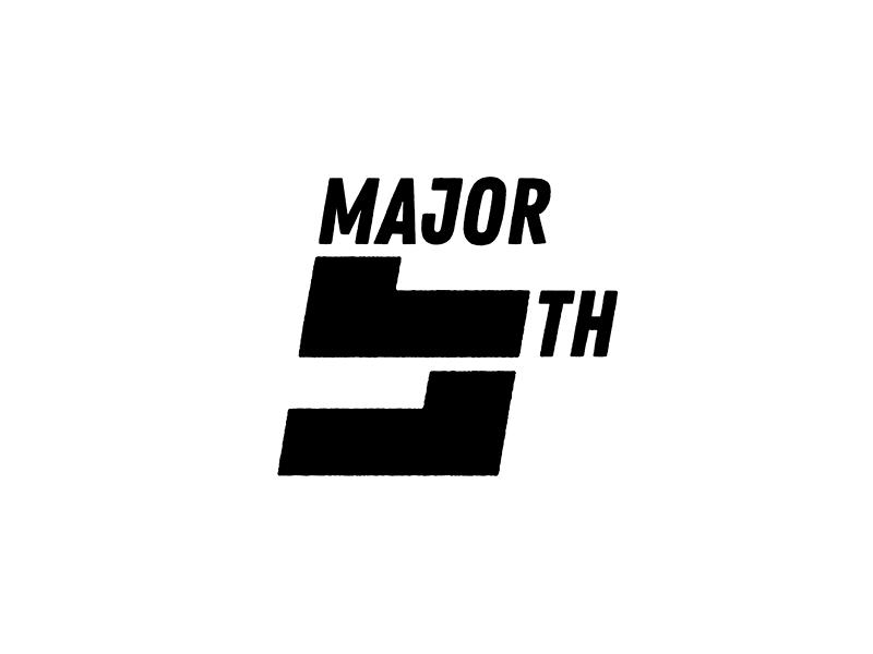 Major Fifth typography typo type modern logo font design creative art alphabet