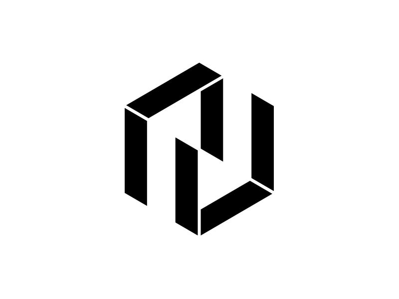 NU typography typo type modern logo font design creative art alphabet