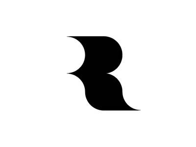 R typography typo type modern logo font design creative art alphabet