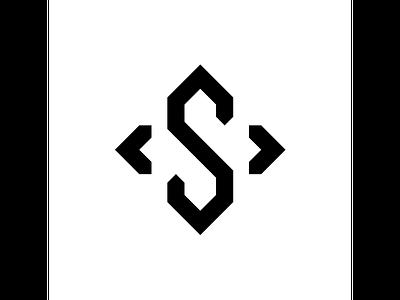 S typography typo type modern logo font design creative art alphabet