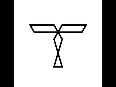 T typography typo type modern logo font design creative art alphabet