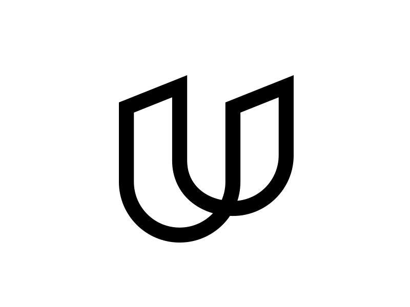 U typography typo type modern logo font design creative art alphabet