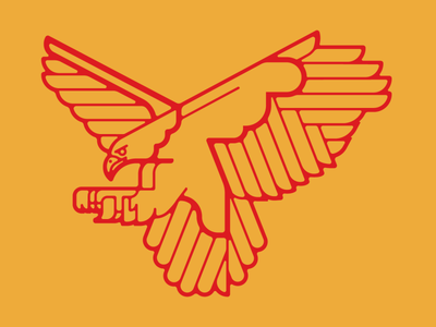 Eagle crest bird desert badge eagle animal southwest flat vector minimal illustration