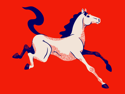 American Horse southwest equine horse animal minimal illustration