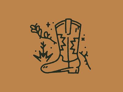 Cowboy Boot branding logo flat desert cowboy cowboy boot southwest vector minimal illustration