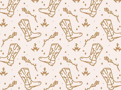 Cowboy Boot Pattern desert flat branding cowboy boot cowboy southwest vector minimal illustration pattern