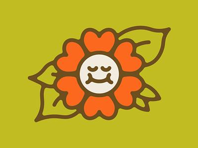Flower cute daisy flower flat character vector minimal illustration