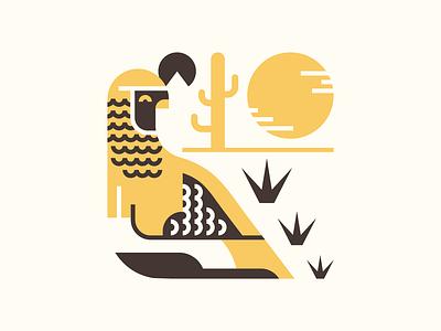 Spring Quail flat desert quail animal southwest character character design vector minimal illustration