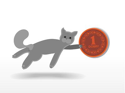 As you wish design flat vector illustration cat