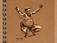 Sumo  Wrestler - Digital Illustration