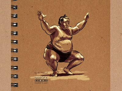 Sumo Wreslter 2 - Digital Illustration illustration art drawing gesture flow spontaneous lines sumo wrestler digital ink digital painting digital illustration