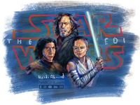 Digital Painting of The Last Jedi - Star Wars Fan Art