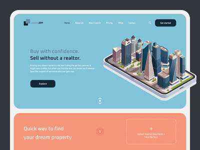 estateAPP - Real Estate Landing website clean design clean ui webdesigns design app webdesignagency realestate website design web user experience webdesign mobile aleksandarilicdribbble aleksandarilic product ux ui design