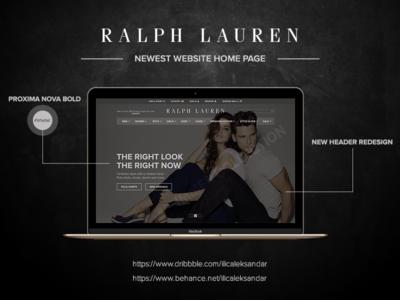 RALPH LAUREN - Redesign Home Page