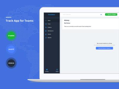 Track App for Teams - Web Application