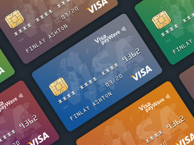 Credit Card Design Template for New Project