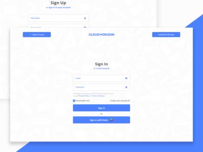 Sign In & Sign Up Form Design for Web App 🙏