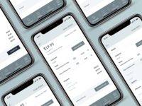 Pixel Perfect Wireframe for POS Mobile eCommerce