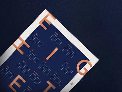 2018 Letterpress Design Calendar