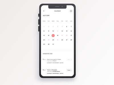 Givme - Calendar tips personal calendar tasks ux mobileapp experience evolution user experience ui prototyping navigation intuitive interactive graphic digital design app