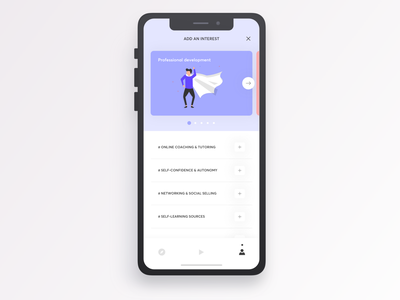 Givme - Add an interest illustration tasks tips development personal mobileapp experience evolution ux user experience ui prototyping navigation intuitive interactive graphic digital design app