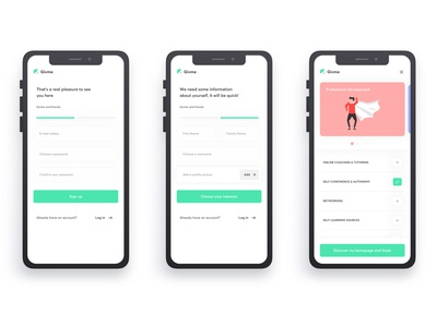 Givme - Onboarding development personal navigation ui ux experience user experience prototyping interactive intuitive digital design app
