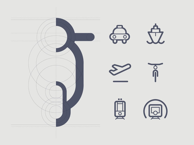 Grid flat outline iconography illustration contour design icon design icons pictogram icon