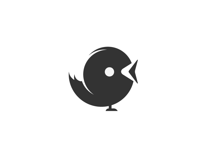 Tweet sodafish bird icon logomark logo pictogram twitter design negative space