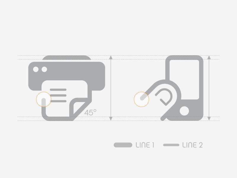 Icon grid sodafish icon design icon design grid styleguide consistency