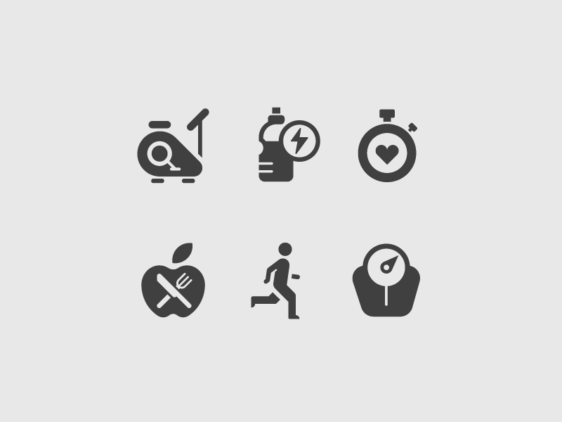 Exercise icons exercise icons vector design fitness
