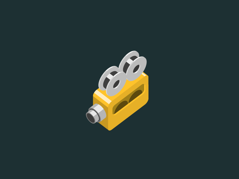 Camera icon isometric 3d vector camcorder camera