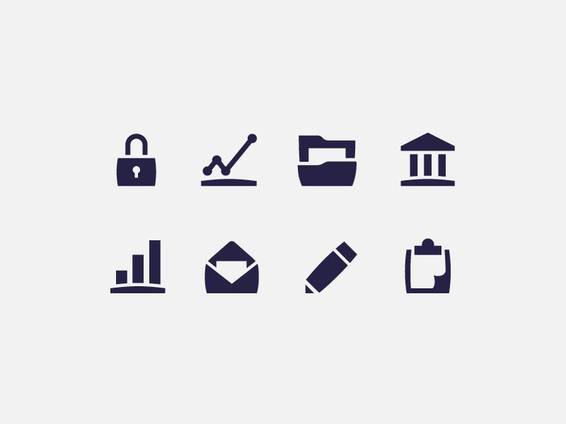 Benefitfocus icon design iconography design minimal flat icons business